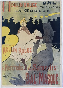 Henri de Toulouse-Lautrec, Moulin Rouge (La Goulue), circa 1891, Rijksmuseum. Purchased with the support of the F. G. Waller-Fonds